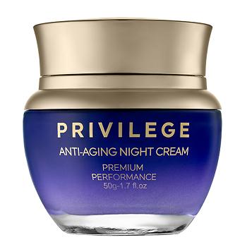 image Privilege verjüngende Nachtcreme für Gesicht und Hals mit Kaffeebohnenextrakt